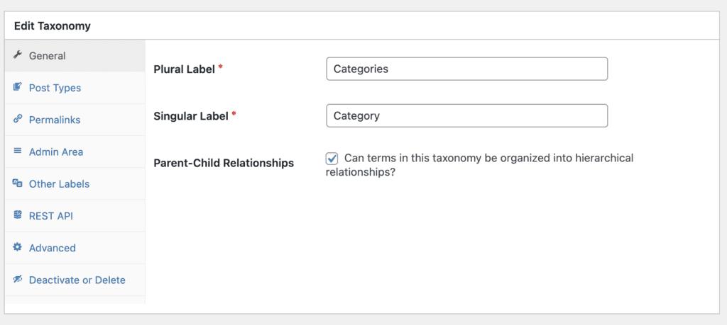 TaxoPress General taxonomy settings