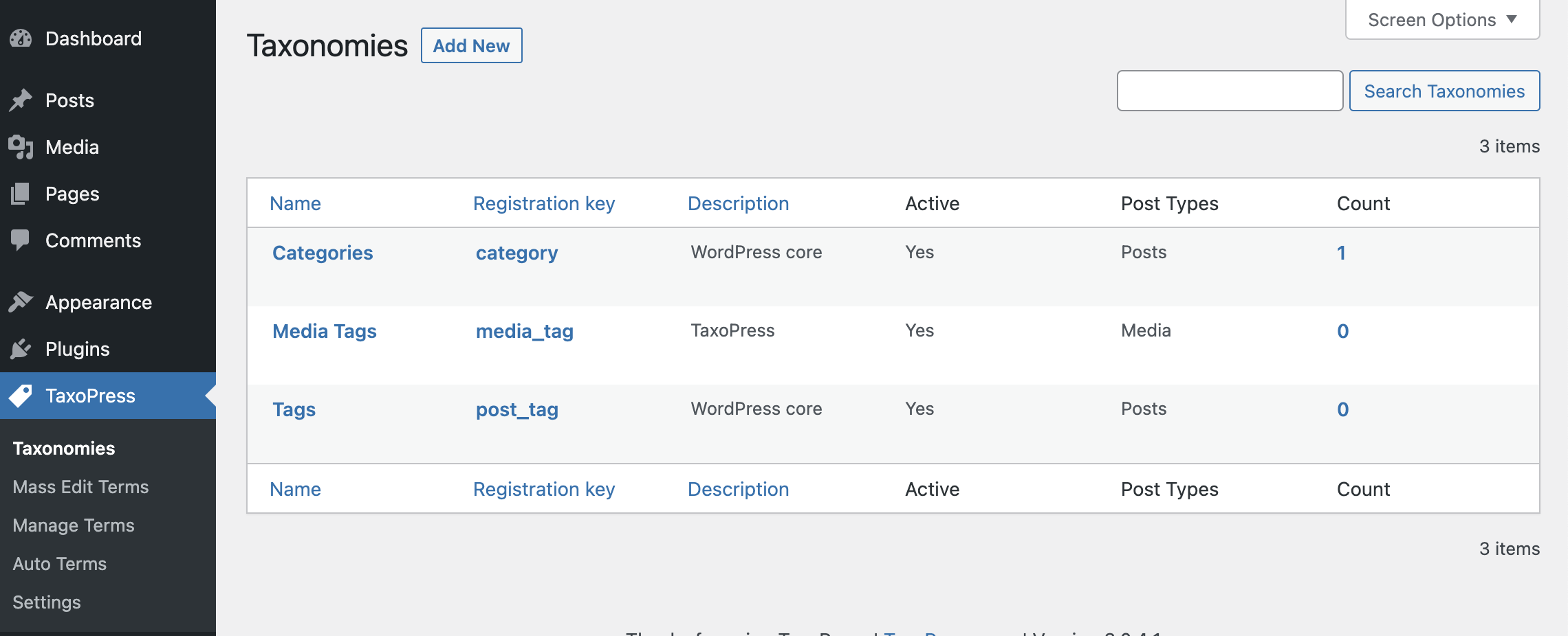 TaxoPress 3.0.4 Allows You to Create and Manage Taxonomies