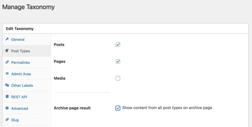 Managing the Categories Taxonomy in WordPress