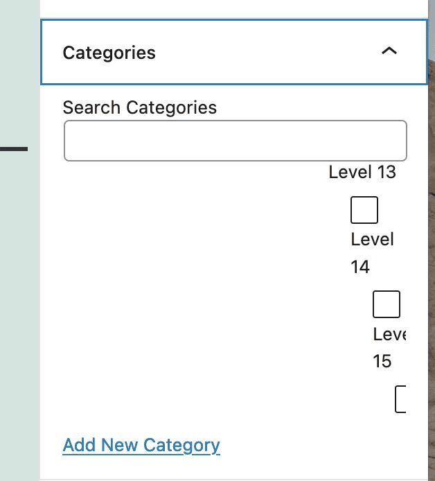 Metabox for WordPress sub-categories