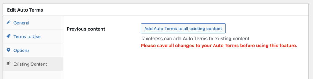 add terms to existing WooCommerce content